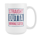 Straight Outta Minnesota Baseball Coffee Mug, 15 Ounce