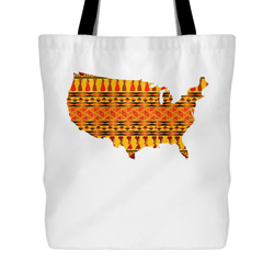 African American Pride Ankara Tribal Pattern 1 Tote Bag,18x18in