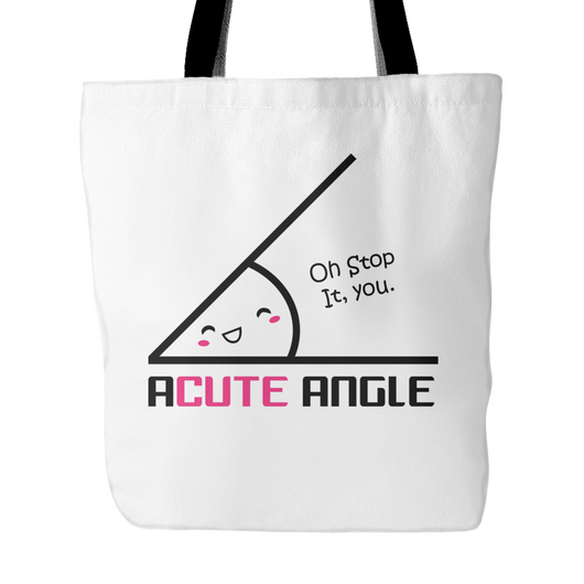Acute Angle Tote Bag, 18 inches x 18 inches