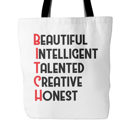 Beautiful Intelligent Talented Creative Tote Bag, 18