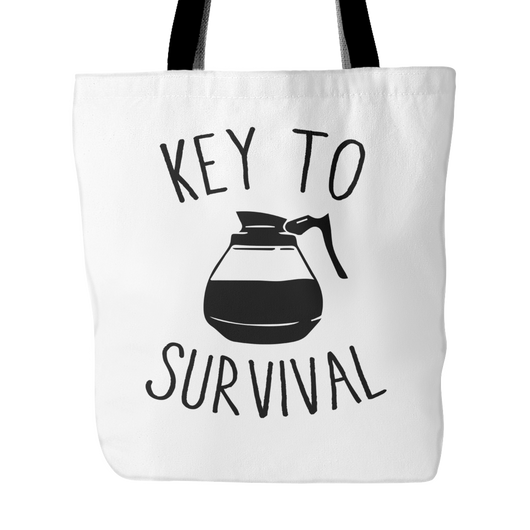 Key To Survival Tote Bag, 18
