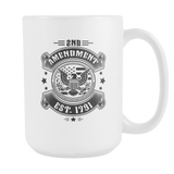 2nd Amendment Est. 1791 Coffee Mug, 15 Ounce