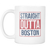Straight Outta Boston Baseball Coffee Mug, 11 Ounce