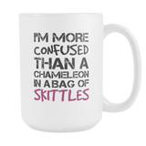 I'm More Confused Than A Chameleon Coffee Mug, 15 Ounce
