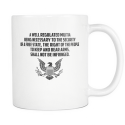 A Well Regulated Militia Coffee Mug, 11 Ounce