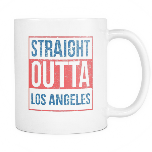 Straight Outta Los Angeles 2 Baseball Coffee Mug, 11 Ounce