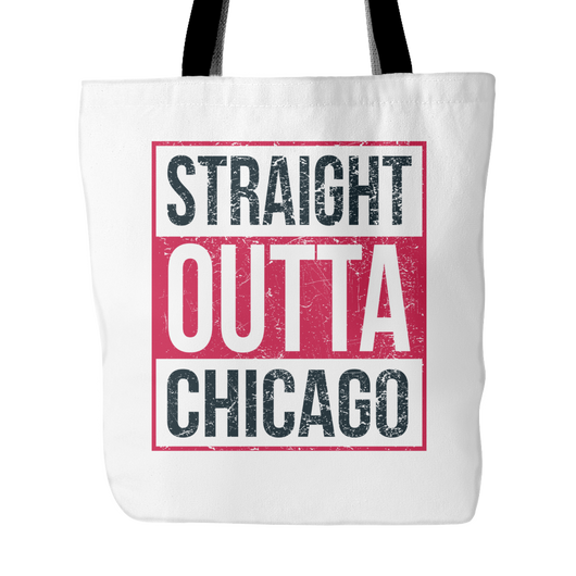 Straight Outta Chicago Basketball Tote Bag, 18 inches x 18 inches