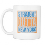 Straight Outta New York Basketball Coffee Mug, 11 Ounce