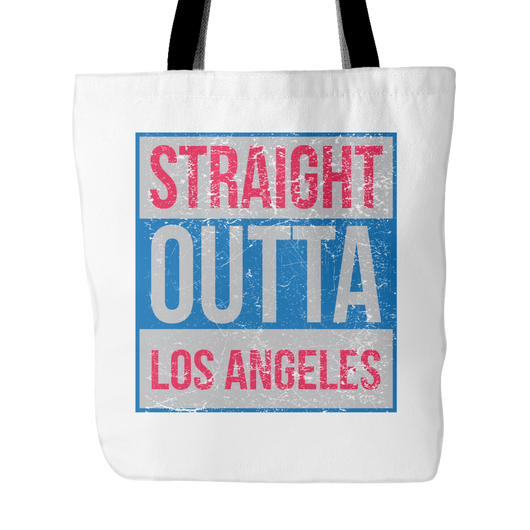 Straight Outta Los Angeles Basketball Tote Bag, 18 inch x 18in