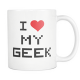 I Love My Geek Coffee Mug, 11 Ounce