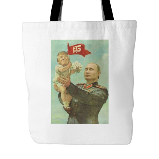 Putin and Baby Trump Tote Bag, 18 inches x 18 inches