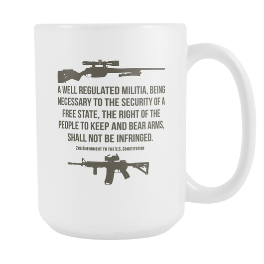 2nd Amendment To The US Constitution Coffee Mug, 15 Ounce