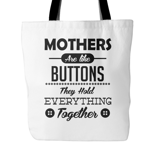 Mothers Are Like Buttons Tote Bag, 18 inches x 18 inches