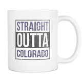 Straight Outta Colorado Baseball Coffee Mug, 11 Ounce