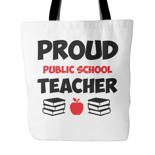 Proud Public School Teacher Tote Bag, 18 inches x 18 inches