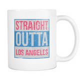 Straight Outta Los Angeles Basketball Coffee Mug, 11 Ounce