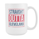 Straight Outta Cleveland Baseball Coffee Mug, 15 Ounce