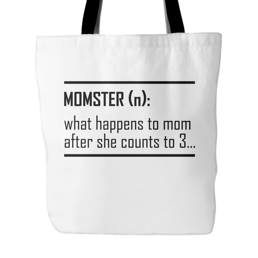 Momster Definition Tote Bag, 18 inches x 18 inches