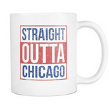Straight Outta Chicago Baseball Coffee Mug, 11 Ounce