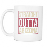 Straight Outta Arizona Baseball Coffee Mug, 11 Ounce