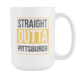 Straight Outta Pittsburgh Baseball Coffee Mug, 15 Ounce