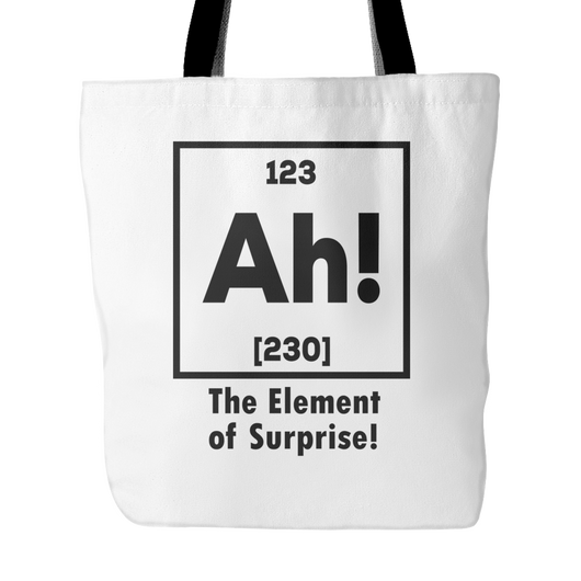 Ah! The Element Of Surprise! Tote Bag, 18 inches x 18 inches