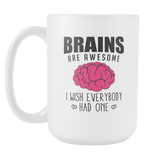 Brains Are Awesome Coffee Mug, 15 Ounce