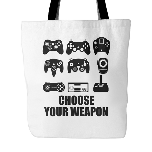 Choose Your Weapon 2 Tote Bag, 18