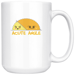 Acute Angle Coffee Mug, 15 Ounce