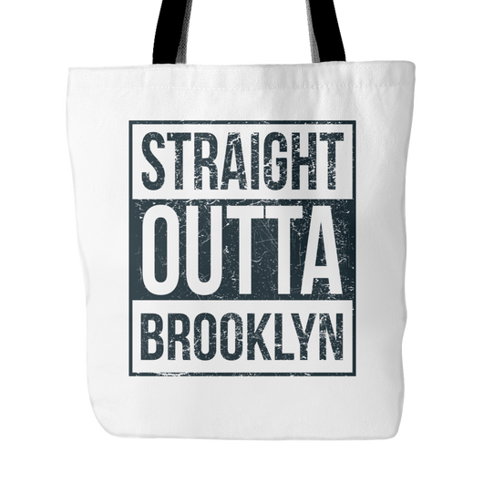 Straight Outta Brooklyn Basketball Tote Bag, 18 inches x 18inch