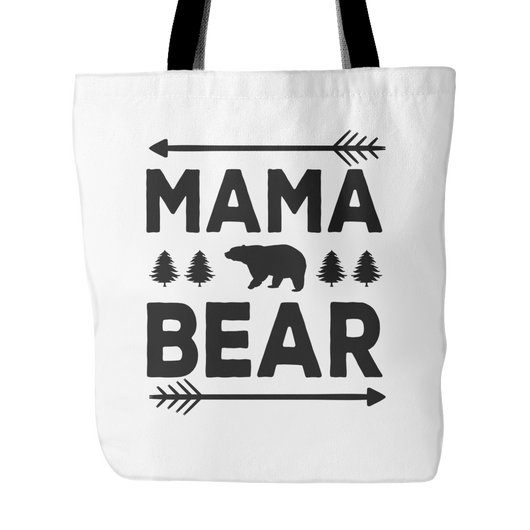 Mama Bear Tote Bag, 18 inches x 18 inches