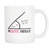 Acute Angle Coffee Mug, 11 Ounce