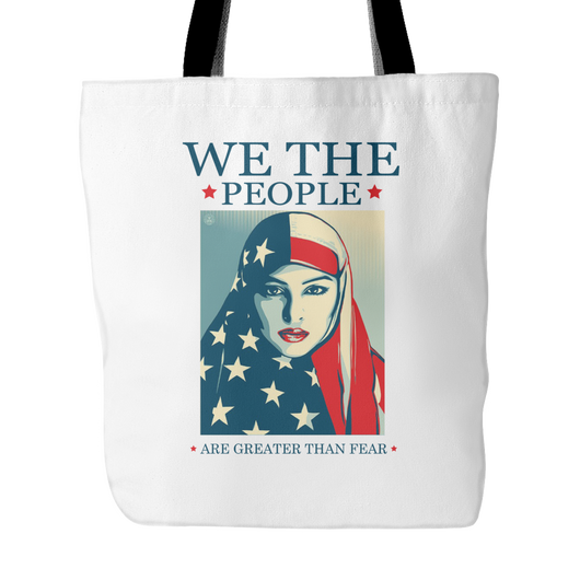We The People Greater Than Fear Tote Bag, 18 inches x 18 inches