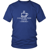 Coders Like Their Coffee Strong Shirt
