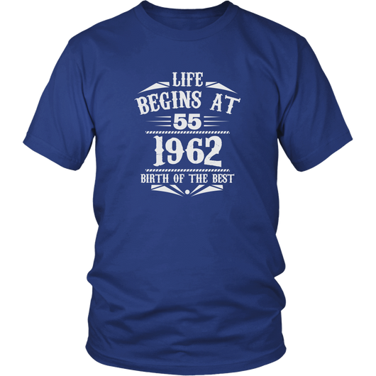 Life Begins At 55 Shirt