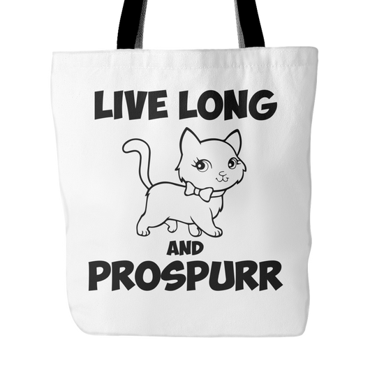 Live Long And Prospurr Tote Bag, 18 inches x 18 inches
