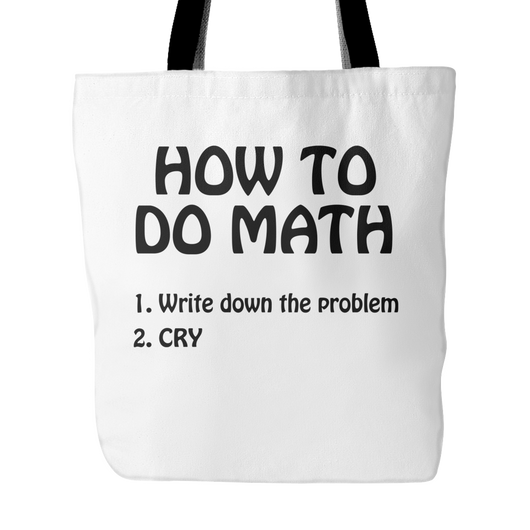 How To Do Math Tote Bag, 18