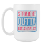 Straight Outta Los Angeles Basketball Coffee Mug, 15 Ounce
