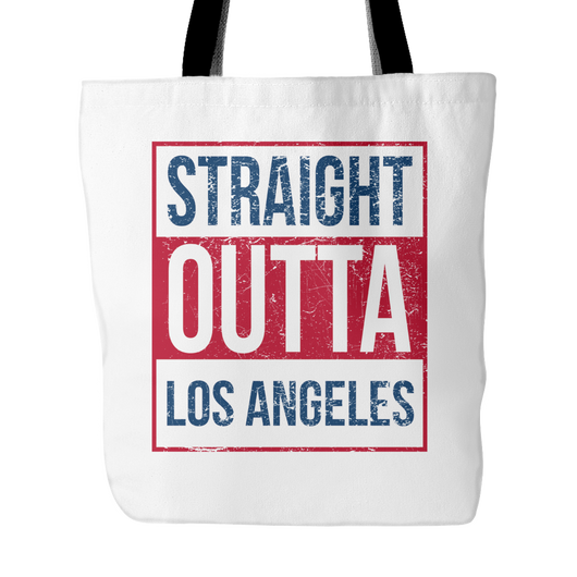 Straight Outta Los Angeles Baseball Tote Bag, 18