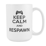 Keep Calm And Respawn Coffee Mug, 15 Ounce