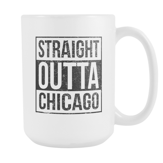 Straight Outta Chicago 2 Baseball Coffee Mug, 15 Ounce