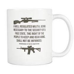 2nd Amendment To The US Constitution Coffee Mug, 11 Ounce