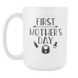 First Mother's Day Coffee Mug, 15 Ounce