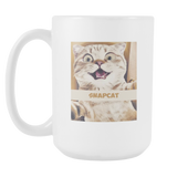 SNAPCAT Coffee Mug, 15 Ounce