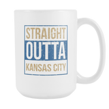 Straight Outta Kansas City Baseball Coffee Mug, 15 Ounce