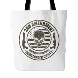 2nd Amendment America's Original Tote Bag, 18 inches x 18 inche