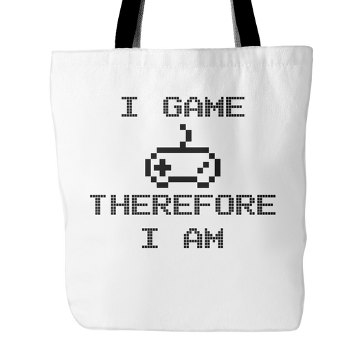 I Game Therefore I Am Tote Bag, 18