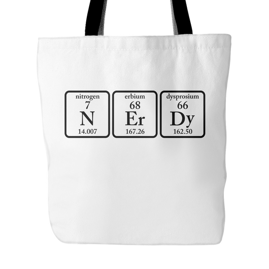 Nerdy Elements Tote Bag, 18 inches x 18 inches
