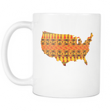 African American Pride Ankara Tribal Pattern 1 Coffee Mug, 11Oz