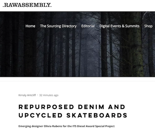 Raw Assembly - Repurposed Denim and Upcycled Skateboards